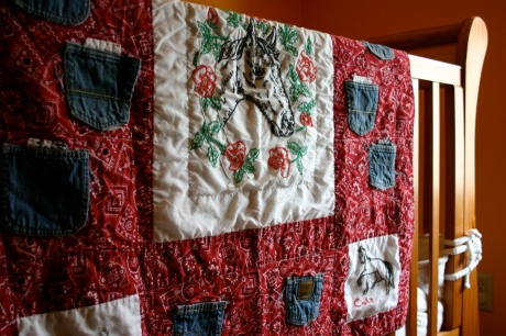A baby quilt for Colt...